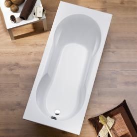 Ottofond Viva Rechteck-Badewanne mit Duschzone mit Wannenträger