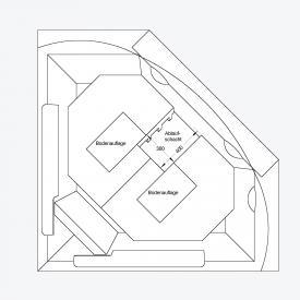 Ottofond Wannenträger Madras 57 cm