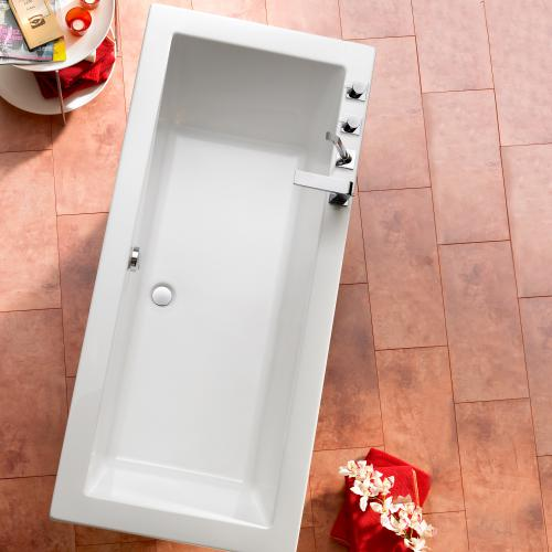 Ottofond cubic rechteck badewanne mit wannentr ger for Sechseck badewanne 190x90