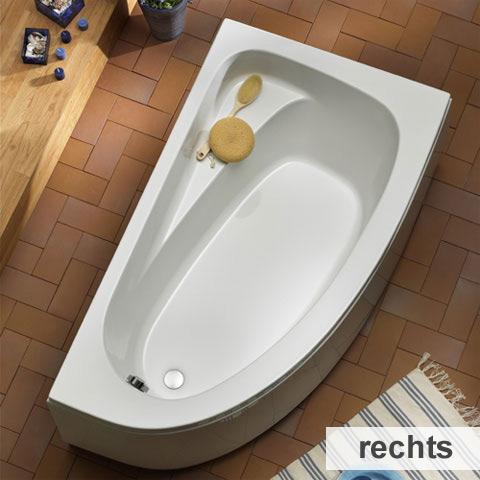 ottofond marina eck badewanne ausf hrung rechts mit wannentr ger 917001 990132 reuter. Black Bedroom Furniture Sets. Home Design Ideas