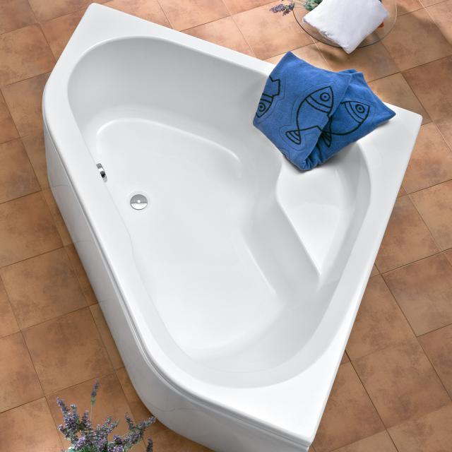 Ottofond Ancona Eck-Badewanne, Einbau mit Wannenträger