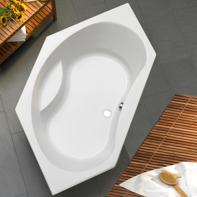 Ottofond Aqaba Sechseck-Badewanne mit Fußgestell