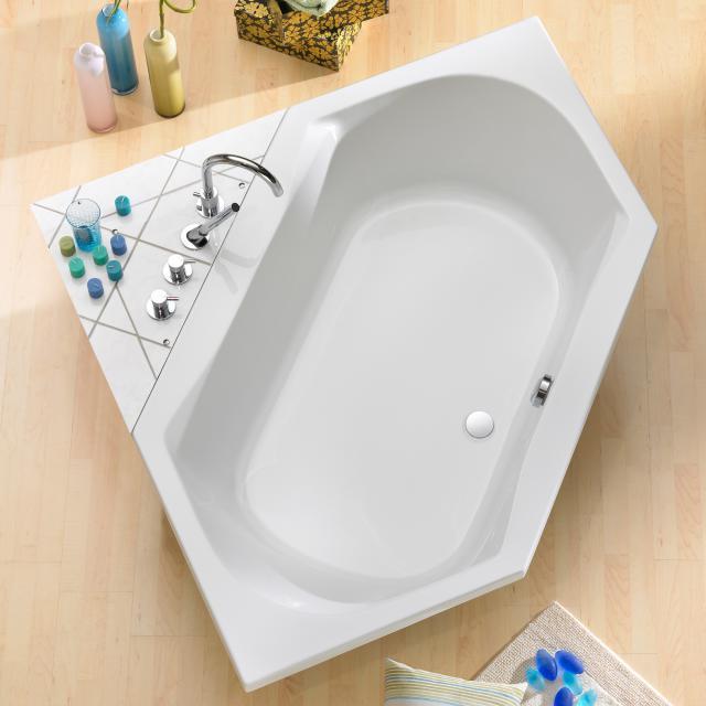 Ottofond Corsica Sechseck-Badewanne, Einbau mit Wannenträger