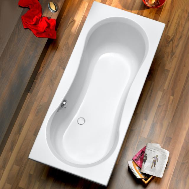 Ottofond Delphi Rechteck-Badewanne, Einbau mit Fußgestell