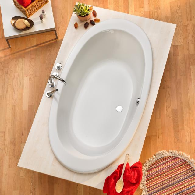 Ottofond Gomera Oval-Badewanne, Einbau mit Fußgestell