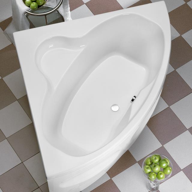 Ottofond Katamaran Eck-Badewanne, Einbau mit Fußgestell