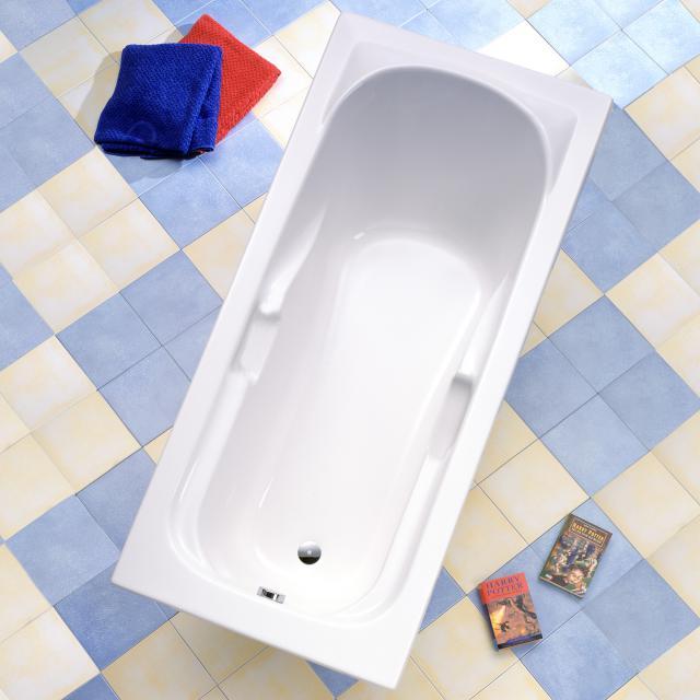 Ottofond Korfu Rechteck-Badewanne, Einbau mit Wannenträger