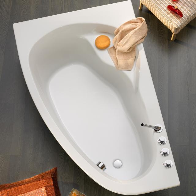 Ottofond Loredana Eck-Badewanne weiß mit Fußgestell
