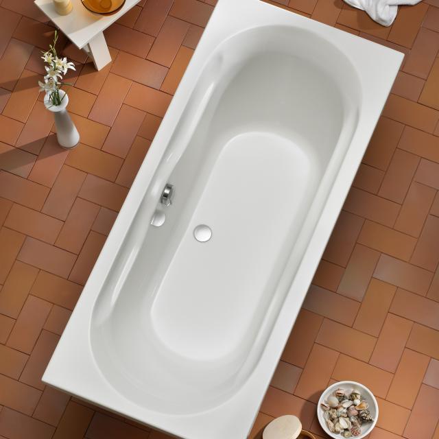 Ottofond Madera Rechteck-Badewanne, Einbau mit Fußgestell