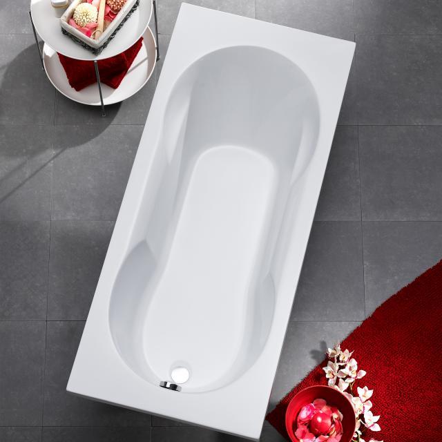 Ottofond Nixe Rechteck-Badewanne, Einbau mit Fußgestell