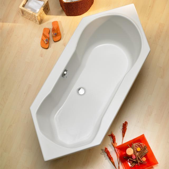 Ottofond Ravenna Sechseck-Badewanne, Einbau mit Wannenträger