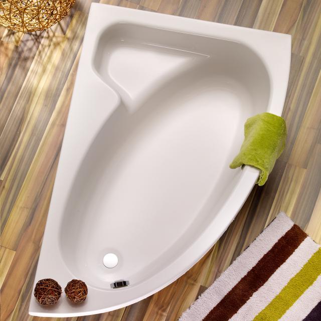 Ottofond Salinas Eck-Badewanne mit Verkleidung weiß mit Schürze