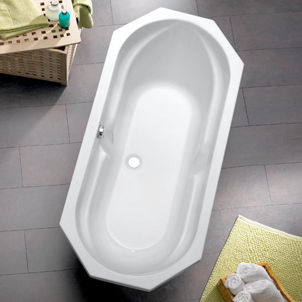 Ottofond Sicilia Achteck-Badewanne, Einbau