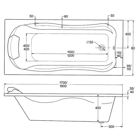 ottofond jamaica rechteck badewanne ohne wannentr ger 900101 reuter. Black Bedroom Furniture Sets. Home Design Ideas
