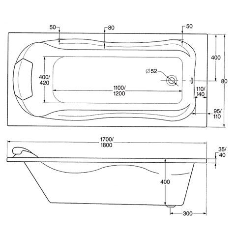 ottofond jamaica rechteck badewanne ohne wannentr ger 900901 reuter. Black Bedroom Furniture Sets. Home Design Ideas