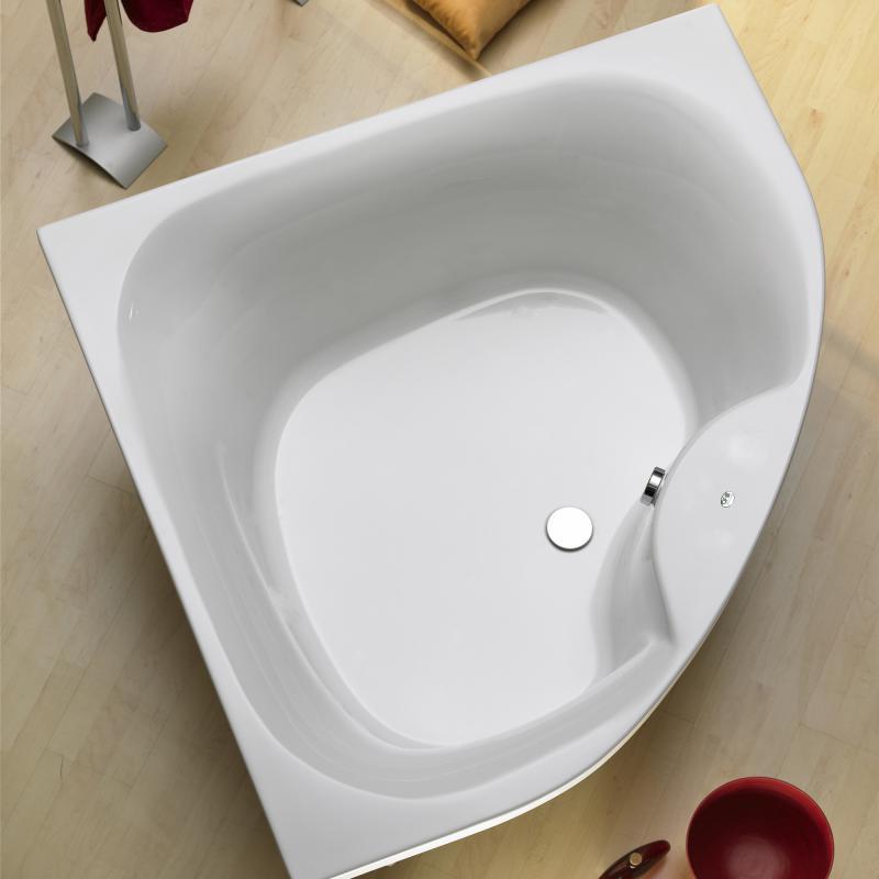 ottofond lima eck badewanne schenkell nge 140 cm 295 liter ohne wannentr ger 862301 reuter. Black Bedroom Furniture Sets. Home Design Ideas