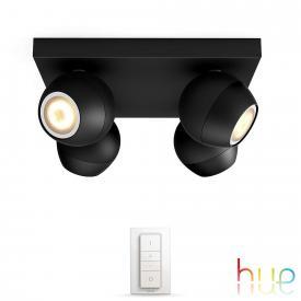 Philips Hue Buckram Deckenspot 4-flammig mit Dimmer