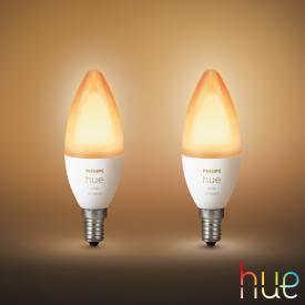 PHILIPS Hue White Ambiance LED E14, 5,2 Watt Doppelpack
