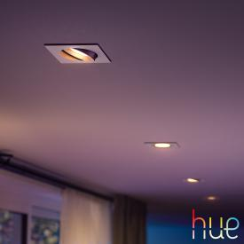 Philips Hue White and Color Ambiance Centura Einbauleuchte/Spot, eckig