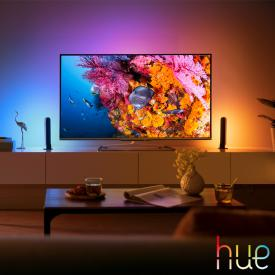 Philips Hue White and color ambiance Play LED Tischleuchte 2er Set