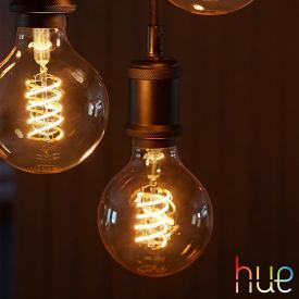 Philips Hue White Filament LED E27 Globe, 9 Watt