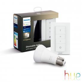 Philips Hue White Wireless Dimming Kit, E27, 9,5 Watt
