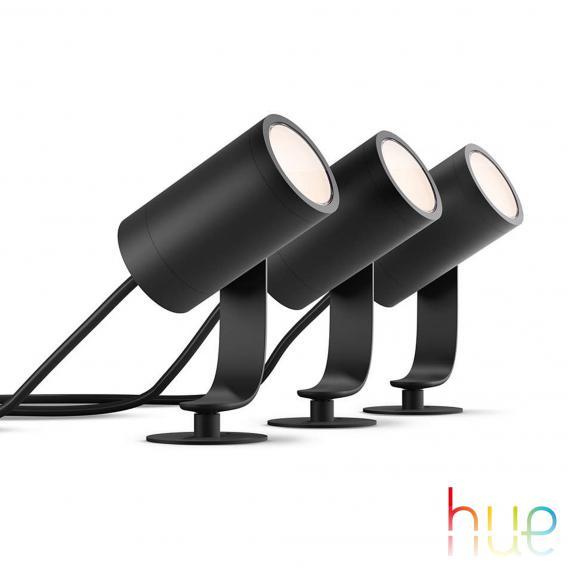 Philips Hue Lily LED Spot/Bodenleuchte, 3er Basis-Set