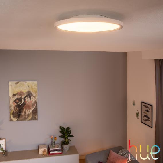 PHILIPS Hue White ambiance Aurelle LED Deckenleuchte mit Dimmer, rund