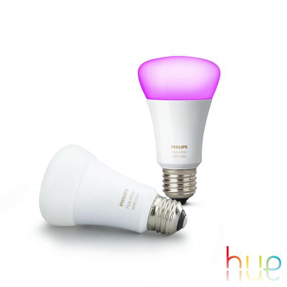 Philips Hue White and Color Ambiance Doppelpack, E27, 10 Watt