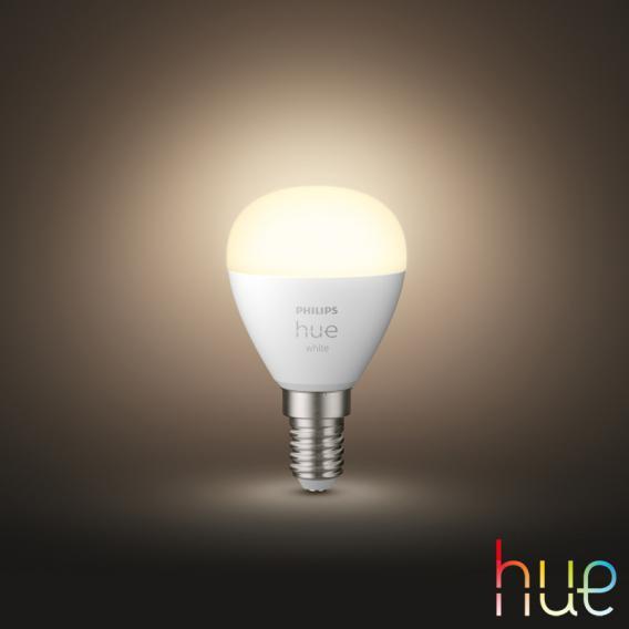 PHILIPS Hue White LED E14 Luster, 5,7 Watt