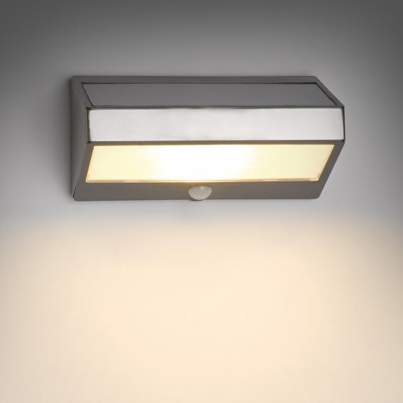 288LED Solarleuchte mit Bewegungsmelder Solarlampe Wandleuchte Garten Außenlampe