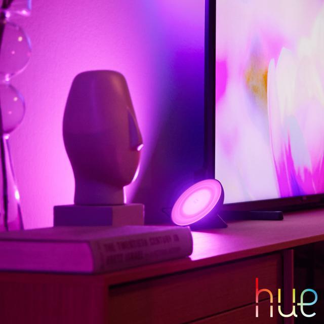 PHILIPS Hue Bloom LED RGB Tischleuchte mit Dimmer