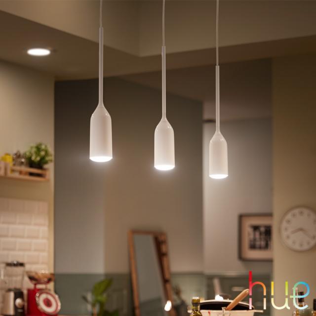 PHILIPS Hue White ambiance Devote LED Pendelleuchte mit Dimmer