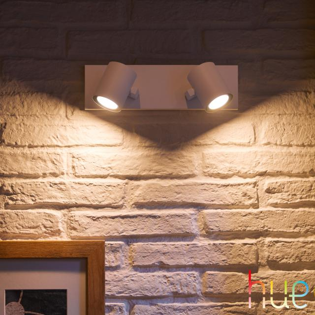 PHILIPS Hue White and Color Ambiance Argenta Spot/Deckenleuchte, 2-flammig
