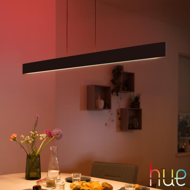 PHILIPS Hue White and color ambiance Ensis LED Pendelleuchte mit Dimmer