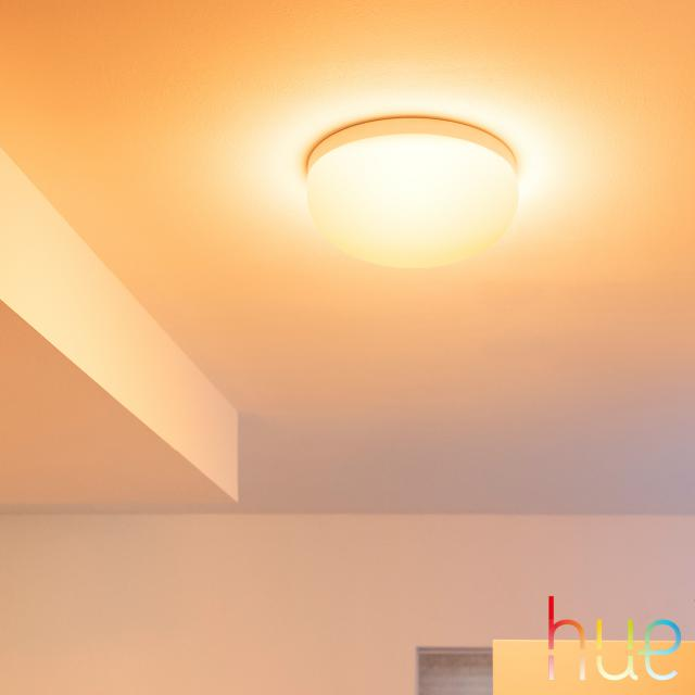 PHILIPS Hue White and color ambiance Flourish LED Deckenleuchte mit Dimmer