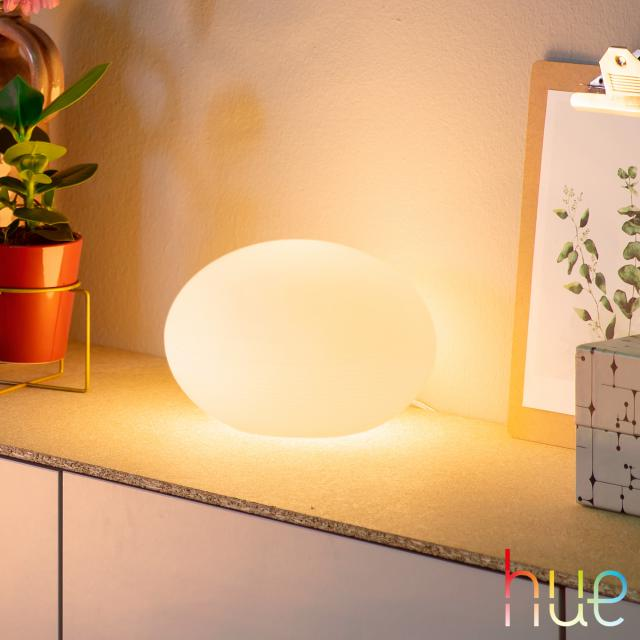 PHILIPS Hue White and color ambiance Flourish LED Tischleuchte mit Dimmer