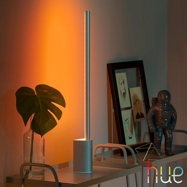 PHILIPS Hue White and color ambiance Signe LED Tischleuchte mit Dimmer