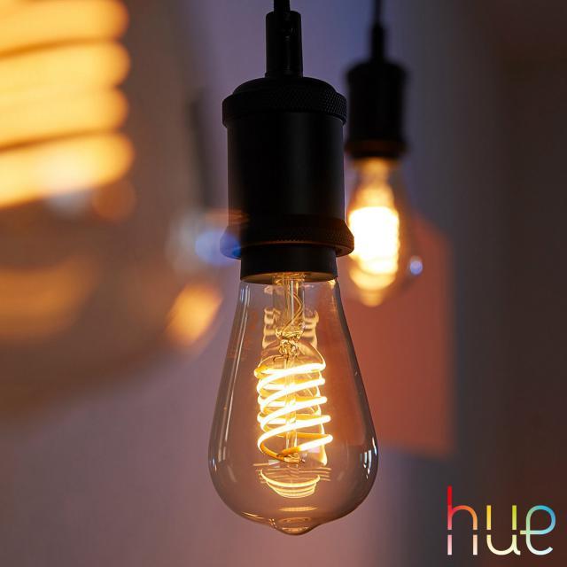 PHILIPS Hue White Filament LED E27 Edison, 9 Watt