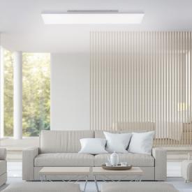 Paul Neuhaus Frameless LED Deckenleuchte mit Dimmer und CCT, länglich
