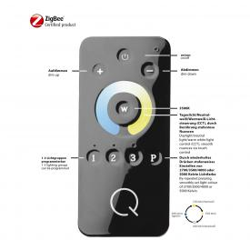 Paul Neuhaus Q-Elli RGBW LED Einbauleuchte/Spot 3er Set mit Dimmer
