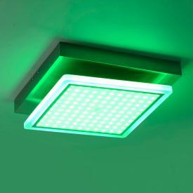 Paul Neuhaus Q-Vidal RGBW LED Deckenleuchte mit Dimmer, quadratisch