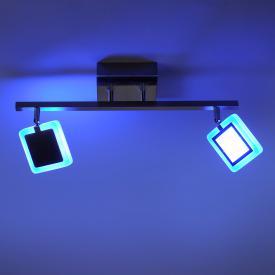 Paul Neuhaus Q-Vidal RGBW LED Deckenleuchte mit Dimmer, 2-flammig