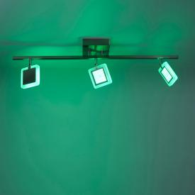 Paul Neuhaus Q-Vidal RGBW LED Deckenleuchte mit Dimmer, 3-flammig