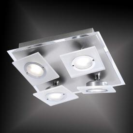 Paul Neuhaus Rotator LED Deckenleuchte/Spot 4-flammig, quadratisch
