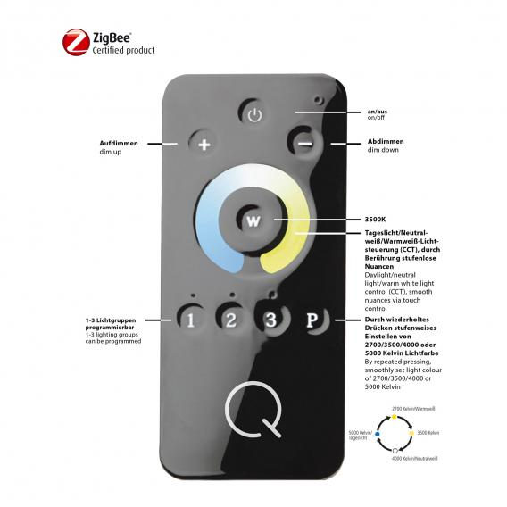 Paul Neuhaus Q-Amy LED Deckenleuchte mit Dimmer
