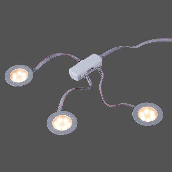 Paul Neuhaus Q-Elli RGBW LED Einbauleuchte/Spot 3-er Set mit Dimmer