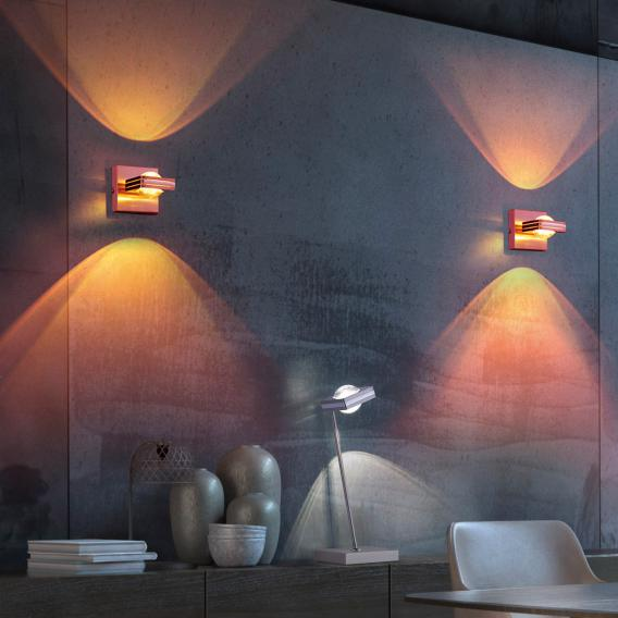 Paul Neuhaus Q-Fisheye RGBW LED Wandleuchte mit Dimmer