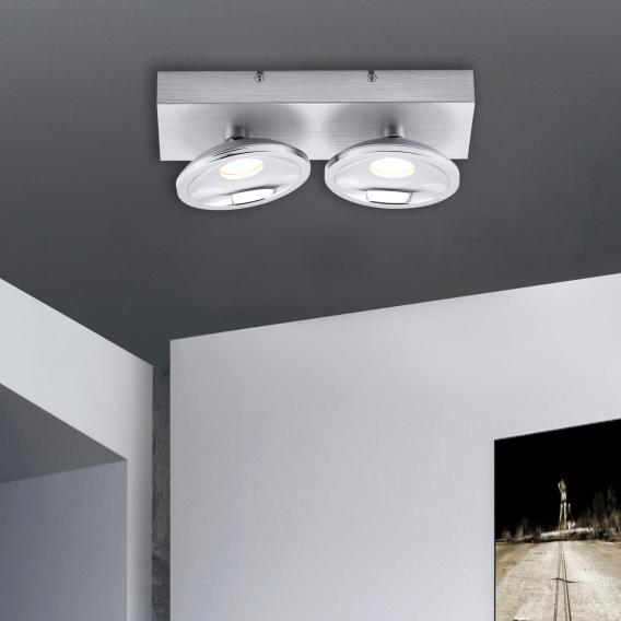Paul Neuhaus Julian RGBW LED Deckenleuchte/Spot mit Dimmer, 2-flammig