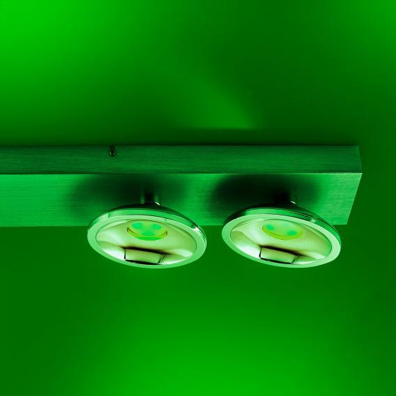 Paul Neuhaus Q-Julian RGBW LED Deckenleuchte/Spot mit Dimmer, 4-flammig, länglich